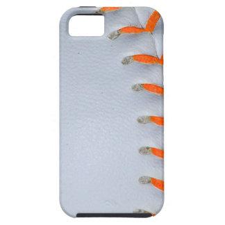 Orange Stitches Softball / Baseball Case For The iPhone 5
