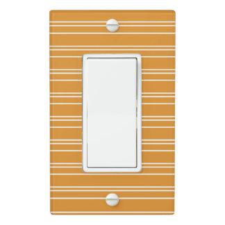 Orange Stripe Design - Light Switch Cover