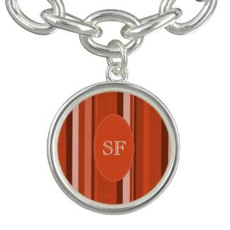 Orange Stripe Monogram Bracelets