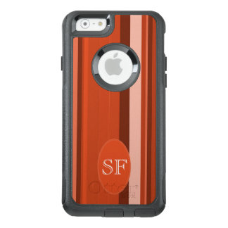 Orange Stripe Monogram OtterBox iPhone 6/6s Case