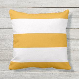 Orange Stripe Striped Stripes Outdoor Throw Pillow