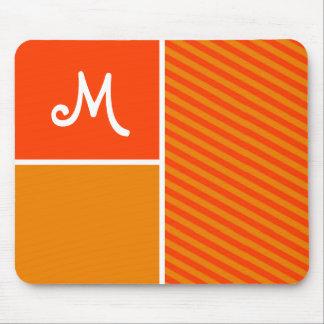 Orange Stripes; Striped Mouse Pads