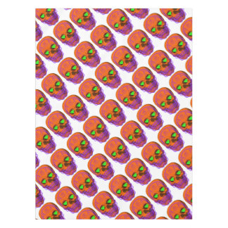 Orange Sugar Skull Tablecloth