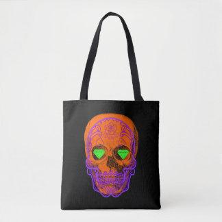 Orange Sugar Skull Tote
