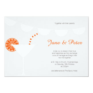 Orange Summer Wedding Invitation