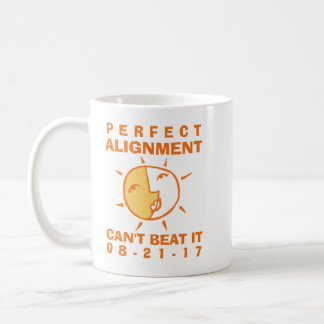 Orange Sun and Moon Eclipse Perfect Alignment Coffee Mug