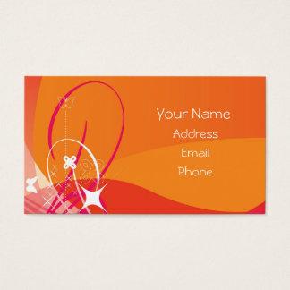 Orange Sun Burst Business Cards