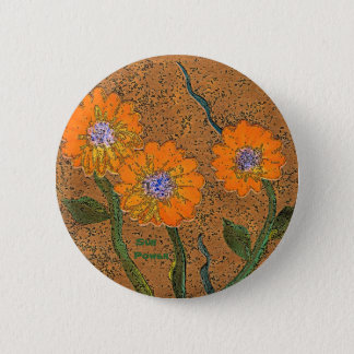 Orange Sun Power Flower Pin