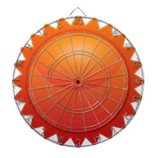 Orange Sun Star Sticker Icon Dart Board
