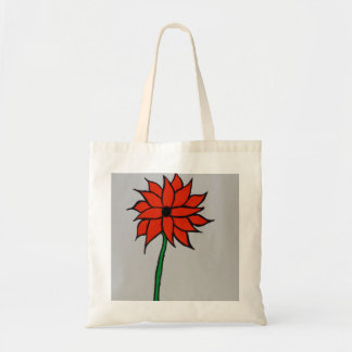 Orange Sunflower Budget Tote Bag