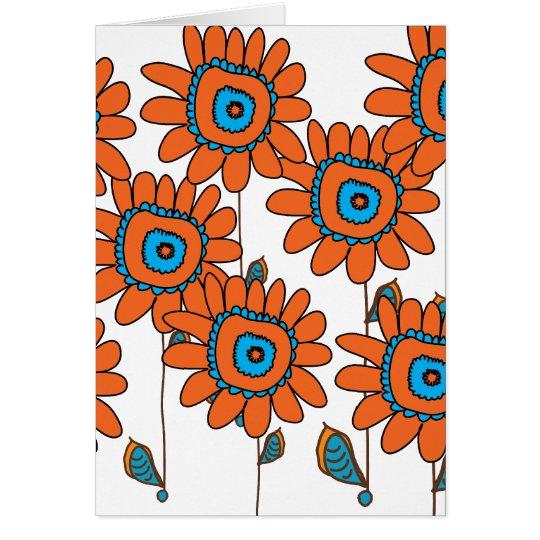 Orange Sunflower Card