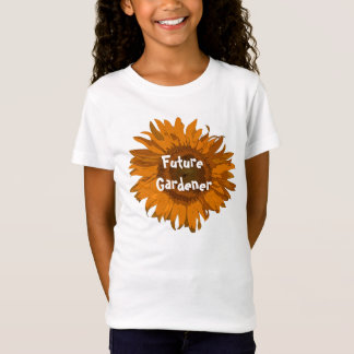 Orange Sunflower Future Gardener T-Shirt