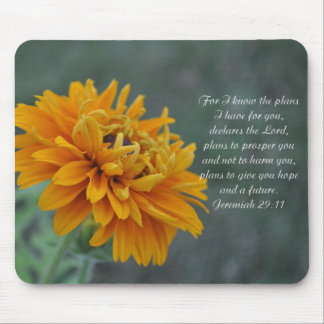 Orange Sunflower Jeremiah 2911 Mouse Pad