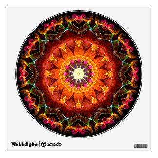 Orange Sunflower kaleidoscope Wall Decal