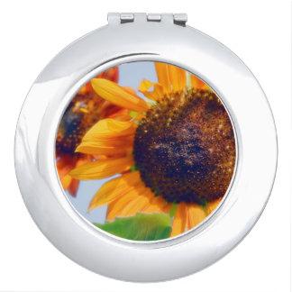Orange Sunflowers Makeup Mirror
