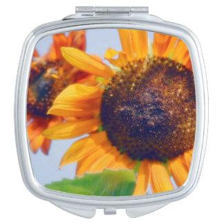 Orange Sunflowers Makeup Mirrors