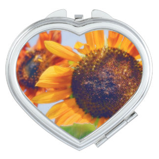 Orange Sunflowers Mirrors For Makeup