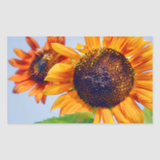 Orange Sunflowers Sticker