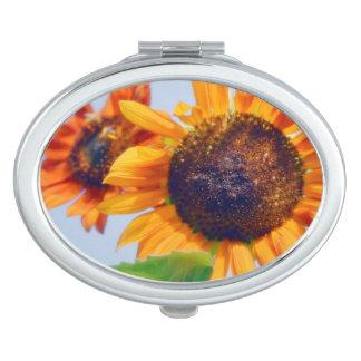 Orange Sunflowers Travel Mirrors