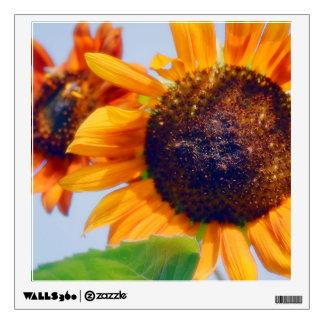 Orange Sunflowers Wall Decal