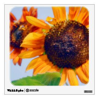 Orange Sunflowers Wall Sticker