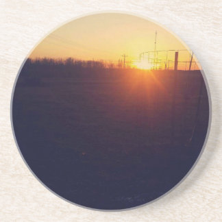 Orange Sunset Beverage Coasters