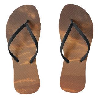 Orange Sunset Flip Flop Shoes