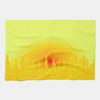 Orange Sunset Hand Towels