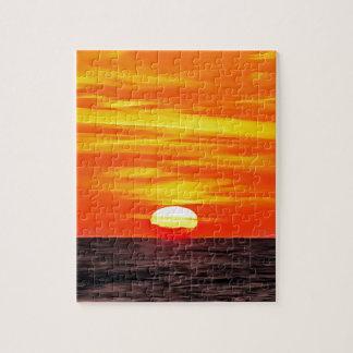 Orange Sunset Jigsaw Puzzle