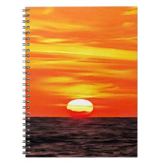 Orange Sunset Note Book
