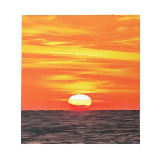 Orange Sunset Notepad