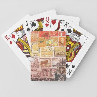 Orange Sunset Playing Cards, Hippie Travel Art Poker Deck
