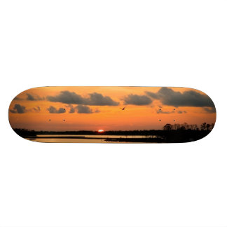 ORANGE SUNSET SKATEBOARD