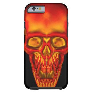 Orange Sunshine Skull Tough iPhone 6 Case