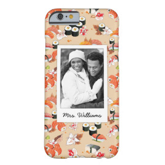 Orange Sushi Pattern | Add Your Photo Barely There iPhone 6 Case