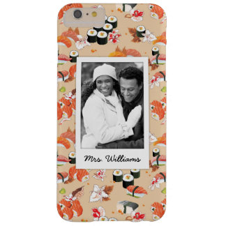 Orange Sushi Pattern | Add Your Photo Barely There iPhone 6 Plus Case