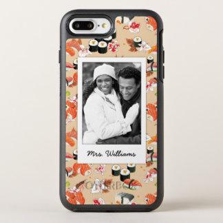 Orange Sushi Pattern   Add Your Photo OtterBox Symmetry iPhone 8 Plus/7 Plus Case