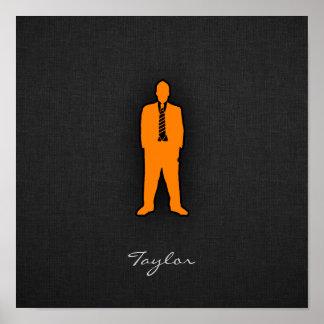 Orange Swag Print