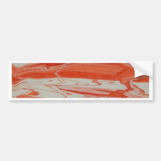Orange Swirl Bumper Sticker