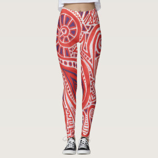 Orange Swirl Leggings