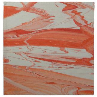 Orange Swirl Napkin