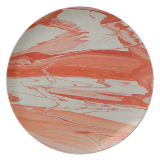 Orange Swirl Plate