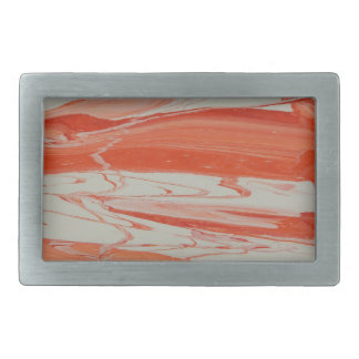 Orange Swirl Rectangular Belt Buckle