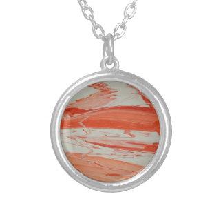 Orange Swirl Silver Plated Necklace