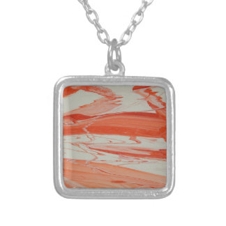 Orange Swirl Silver Plated Necklace