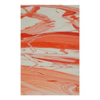 Orange Swirl Stationery