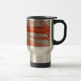 Orange Swirl Travel Mug