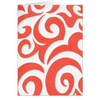 Orange Swirls Card