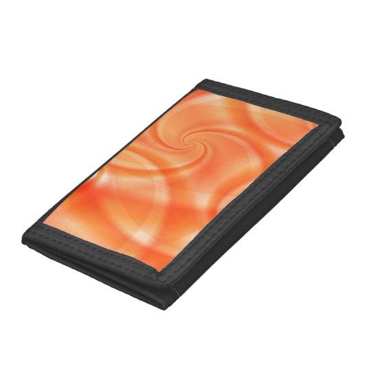 Orange Swirls Design Wallet