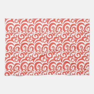Orange Swirls Hand Towel